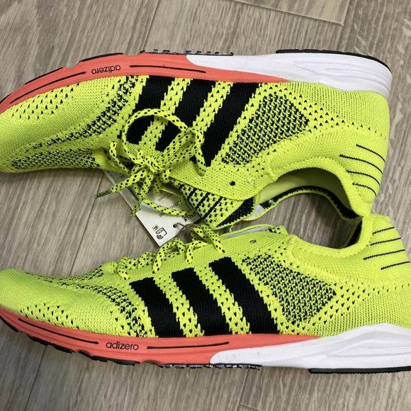 Adidas Adizero Prime Sport Yellow Running Shoe 10